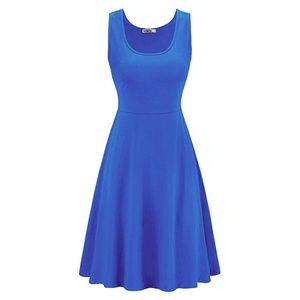 Blue sleeveless dress - never worn - Medium
